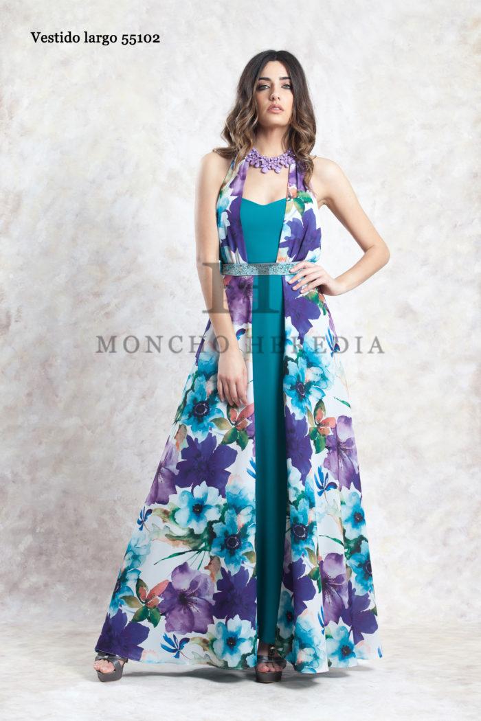 Vestido Largo Estampado Moncho Heredia 55102